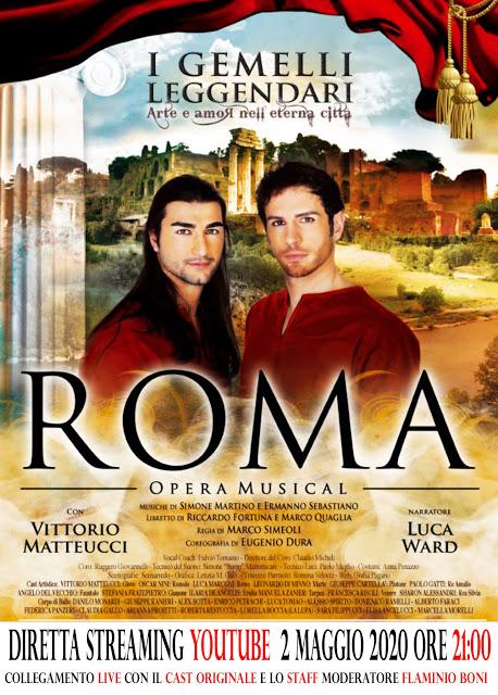 Roma Opera Musical: in streaming la Première il 2 maggio alle 21.00